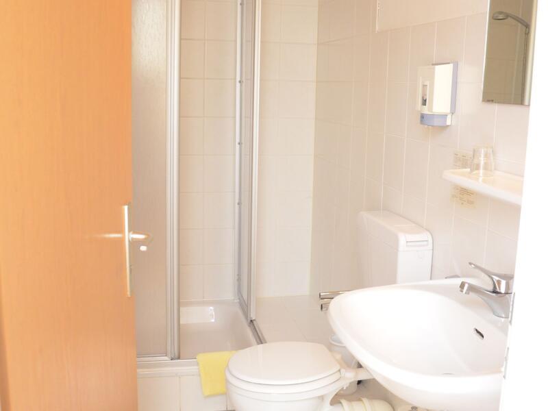 Badezimmer im Hotel Grüner Sand